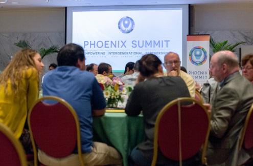 East Garden gathering of Phoenix Summit