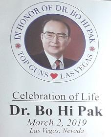 Bo Hi Pak Celebration of Life - Las Vegas - Mar 2, 2019